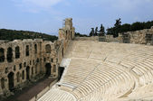 Antic theatre in Athens — Stock Photo