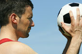 Soccer joke — Stock Photo