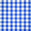 Blue and white tablecloth pattern - Stock Photo
