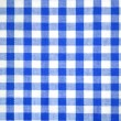 Stock Photo: Blue and white tablecloth pattern