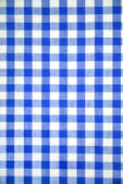 Blue and white tablecloth pattern — Stock Photo