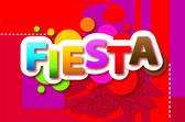 Fiesta Vector red background — Stock Vector