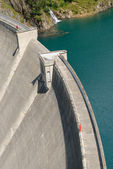 Gittaz Roselend dam — Stock Photo