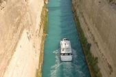 Spedizione attraverso il canale di corinto — Foto Stock