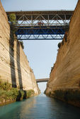 Shipping through Corinth Canal — Stock Photo