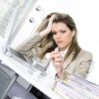 Stock Photo: Overworked