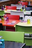 Colored restaurant — Stock Photo