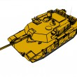 A army tank isolated white background. — Stock Photo