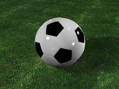 A football on the grassplot . — Foto Stock
