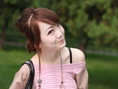 A lovely asian woman. — Stock Photo