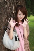 A lovely asian woman — Stock Photo