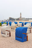Beach chairs in Northern Germany — Stock Photo