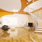 Modern interior of living room 3d render — Stock Photo #5401703