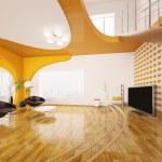 Modern interior design of living room 3d render — Stock Photo #5425246
