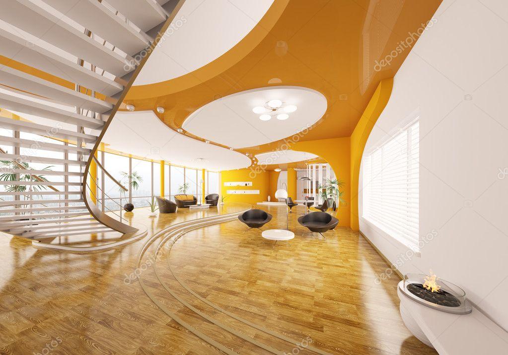 Interior Design Of Modern Apartment 3d Render Stock Photo Scovad 5429496