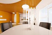 Intérieur de la salle à manger et cuisine de rendu 3d — Photo