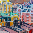 Small colored buildings in Kiev — ストック写真