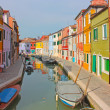 Burano  colorful town in Italy - Stock Photo