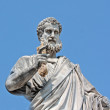 St Peter statue in St. Peter Square — Stock Photo