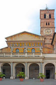 Piazza Santa Maria in Trastevere — Stock Photo