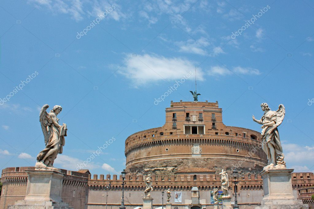 Castel Sant'Angelo taken in Rome, Italy  Stock Photo #5764630
