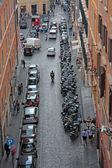 Ver os acima do centro da cidade de roma — Foto Stock