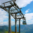 Cable car high in the mountains - Stock Photo