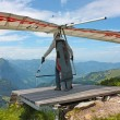Hanggliding in swiss alps — Stock Photo