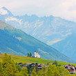 Beautiful church in alpine landscape — Stock Photo