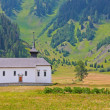 Beautiful church in alpine landscape — Stock Photo #6211165