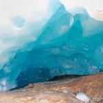 Inside Aletsch glacier — Stock Photo