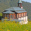 Church in the Alps in Slovenia — Stock Photo