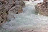 Waterfall in the Alps taken in Slovenia — Stock Photo