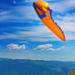 Постер, плакат: Paragliding in Julian Alps