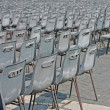 Stock Photo: Multiple chairs in rows