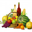 Fruits and wines — Stock Photo