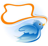 Twitter blue bird — Stock Vector