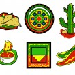 Mexican food icons — Stock Vector