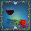 Stock Photo: Abstract grunge illustration with wine glass