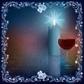şarap kadehi ile soyut grunge illüstrasyon — Stok fotoğraf