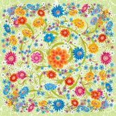 花で飾りを抽象的なグランジ — ストックベクタ