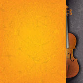 Abstract grunge music background with violin — Stock Vector