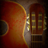 Abstract music grunge background with guitar — Stockvector