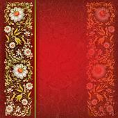 Grunge floral sieraad op vintage achtergrond — Stockvector