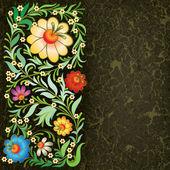Grunge floral ornament on vintage background — Stock Vector