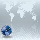 Sfondo astratto business con orologio — Vettoriale Stock