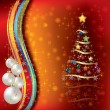 Royalty-Free Stock Vectorafbeeldingen: Abstract Christmas background with tree