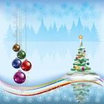 Рождественская елка с украшениями — Cтоковый вектор #6390684