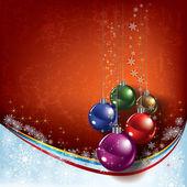 абстрактный фон рождественские украшения — Cтоковый вектор