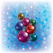 Christmas greeting with decorations - Imagen vectorial
